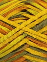 Fiber Content 100% Acrylic, Yellow, Khaki, Brand ICE, Green, Yarn Thickness 3 Light  DK, Light, Worsted, fnt2-39785