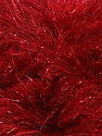Fiber Content 75% Polyester, 25% Metallic Lurex, Brand ICE, Dark Red, Yarn Thickness 5 Bulky  Chunky, Craft, Rug, fnt2-42265