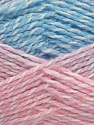 Note that this is a self-stripping yarn. Please see package photos for the color change. Machine washable and dryable. ส่วนประกอบ 100% สังเคราะห์, White, Pink, Brand ICE, Blue, fnt2-42735