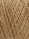 Fiber Content 70% Viscose, 30% Metallic Lurex, Light Brown, Brand Ice Yarns, Gold, fnt2-43755