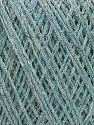 Fiber Content 70% Viscose, 30% Metallic Lurex, Silver, Light Blue, Brand Ice Yarns, fnt2-43758