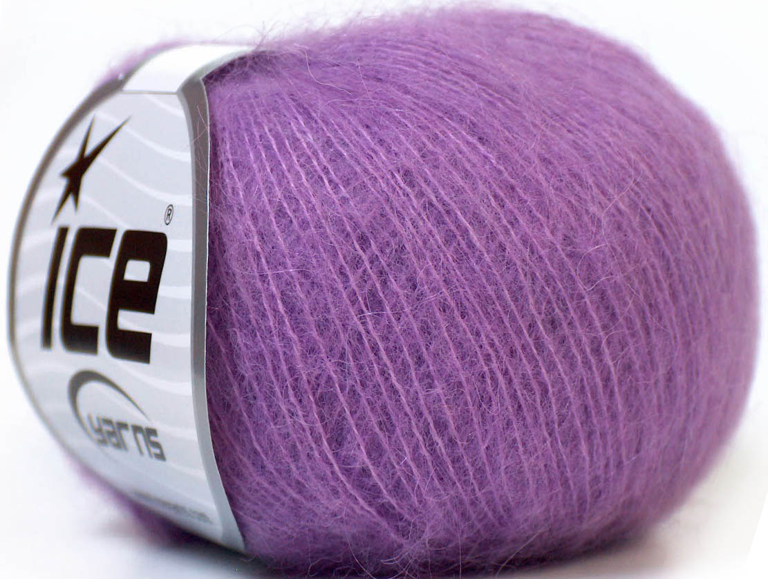Mohair Yarn : Kid Mohair Classic Lilac at Yarn Paradise