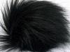 Black 2 Faux Fur PomPoms