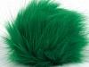 Green 2 Faux Fur PomPoms