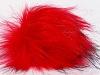 Red 2 Faux Fur PomPoms