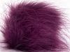 Purple 2 Faux Fur PomPoms