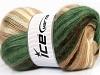 Mohair Magic Green Cream Brown Shades