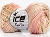 Pure Cotton Print Tonos de color rosa Crema