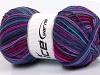 Print Sock Turquoise Purple Maroon Fuchsia