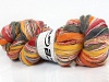 Bamboo Wool Handpaint Yellow Pink Orange Grey