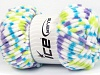 Chenille Baby Colors White Turquoise Neon Green Lilac
