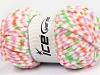 Chenille Baby Colors White Pink Orange Green