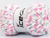 Chenille Baby Colors White Pink Light Grey