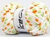 Chenille Baby Colors White Orange Green