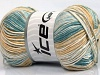 Baby Cotton Print Turquoise Light Blue Grey Cream Beige