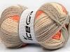 Design Wool Worsted Orange Grey Cream
