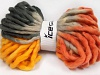 Jumbo Superwash Wool Print Orange Grey Shades Gold