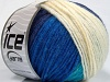 Sale Self-Striping Turquoise Cream Blue Shades