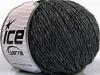 Wool Cord Aran Dark Grey Melange