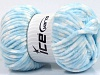 Chenille Baby Colors White Baby Blue