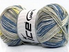 Baby Cotton Print Yellow Grey Shades Cream Blue