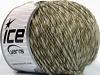 Wool Cord Aran Light Khaki Grey Beige