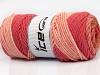 Wool Print Chunky Salmon Rose Pink Rose Brown Pink