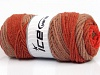 Wool Print Chunky Red Copper Brown Shades