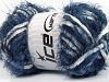 Techno Chenille White Navy Blue