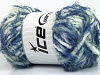 Techno Chenille White Mint Green Blue