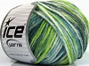 Sale Self-Striping White Turquoise Green Shades