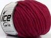 Pure Wool Chunky Burgundy Melange