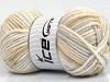 Soft Touch Bulky Print White Light Grey Khaki Beige