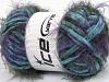 Techno Chenille Turquesa Púrpura Verde