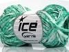 Viscose Shine Bulky White Emerald Green