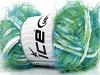 Techno Chenille White Turquoise Green Blue