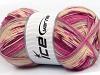 Design Sock Pink Maroon Grey Cream