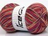 Design Sock Purple Orange Light Salmon Grey