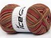 Design Sock Red Purple Brown Shades