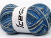 Design Sock Blue Shades Beige