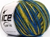 Wool DK Color Yellow Green Blue Shades