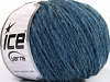 Wool Cord Bulky Jeans Blue
