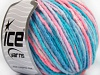 Wool Bulky Color White Salmon Blue Shades