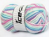 Baby Wool Design White Turquoise Pink Lilac Blue