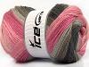 Merino Batik Pink Shades Grey Shades Brown
