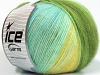Angora Design Yellow White Turquoise Green