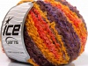 Boucle Wool Worsted Salmón Granate Lila Oro