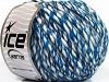 BiancoSpino Lana White Blue Shades