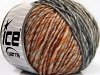 Wool Cord Aran Grey Shades Gold Copper