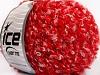 Wool Cotton Boucle Blanco Rojo